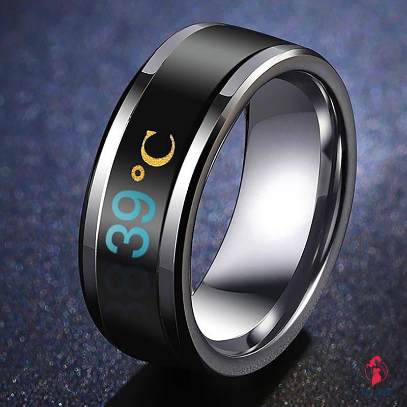 Temperature Ring Titanium Steel Mood Emotion Feeling Intelligent Temperature Sensitive Rings for Women Men Waterproof Jewelry by Getitchoosy