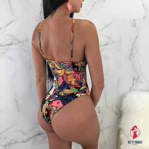 Fancinating Womens Swimwears Letter Printed by Getitchoosy