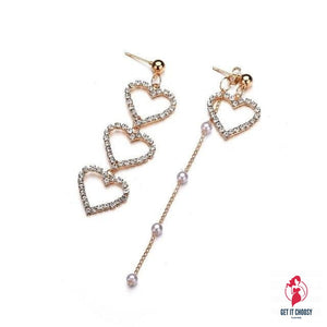 Fashion Crystal Love Heart Dangle Earrings Women by Getitchoosy