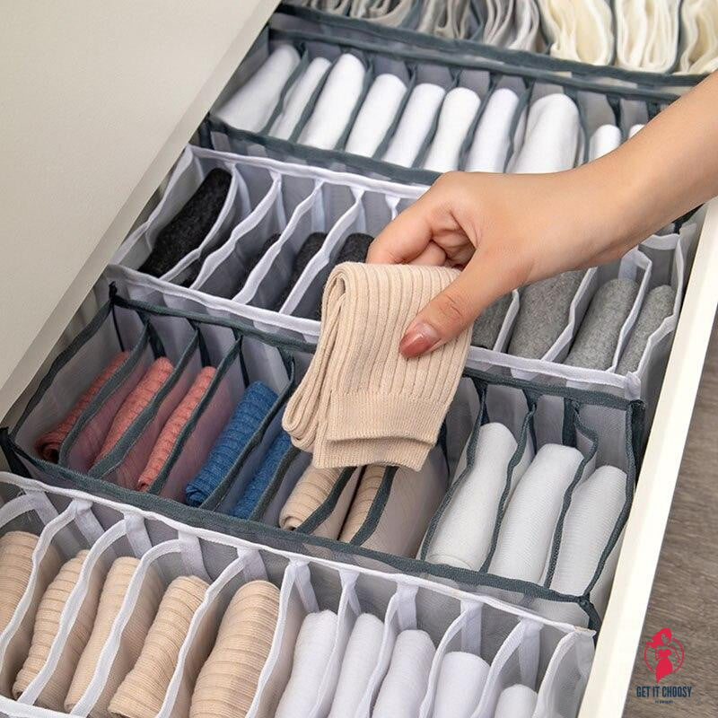 Underwear Bra Socks Panty Storage Boxes Home Dormitory Office Cabinet Organizers Wardrobe Closet Drawer Organization Box Divider - Get It Choosy