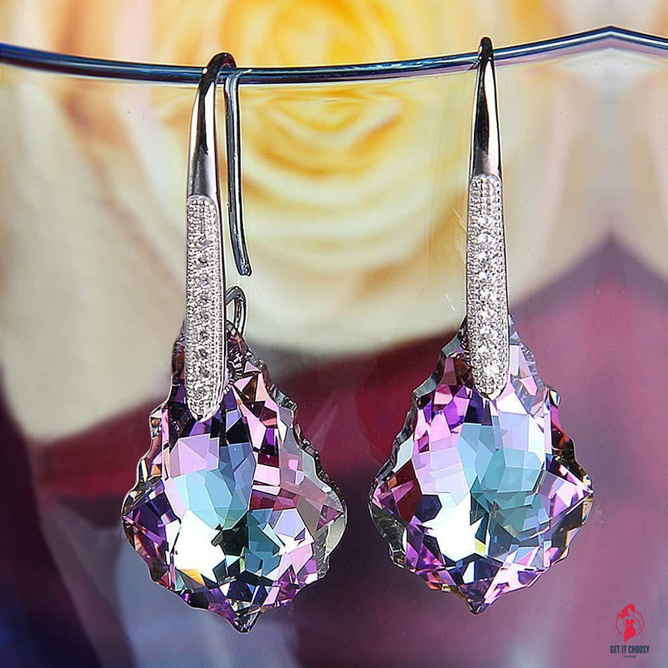 Baroque Drop Changing Color Drop Earring by Getitchoosy