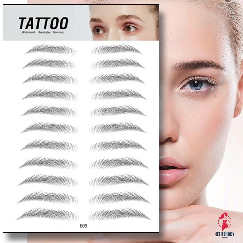 Magic 4D Hair-like Eyebrow Tattoo Sticker False Eyebrows 7 Day Long Lasting Super Waterproof Makeup Eye Brow Stickers Cosmetics - Get It Choosy