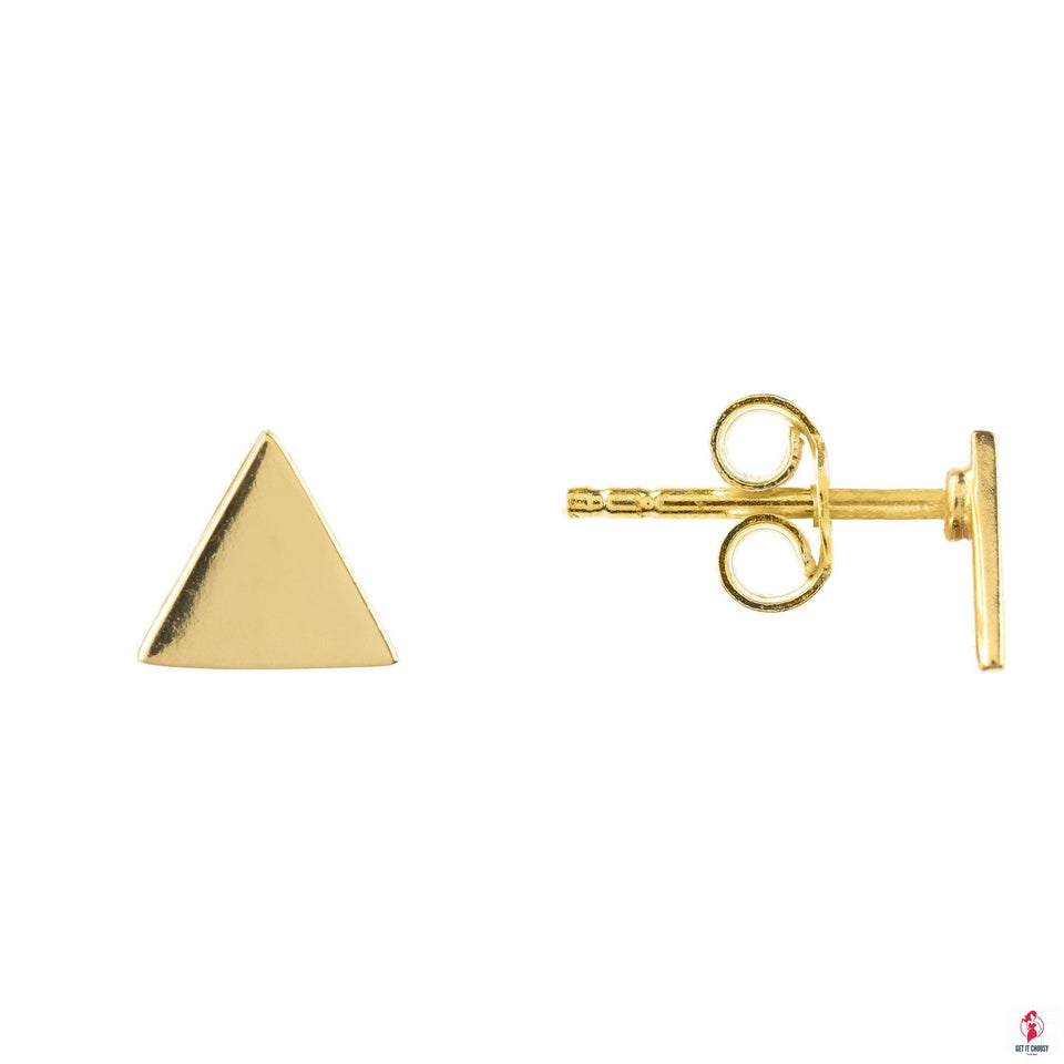 Triangle Cosmic Stud Earrings by Getitchoosy