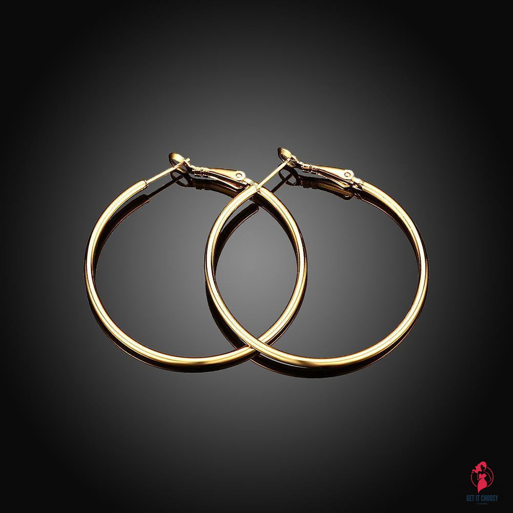 42mm Round Hoop Earring in 18K Gold Plated by Getitchoosy