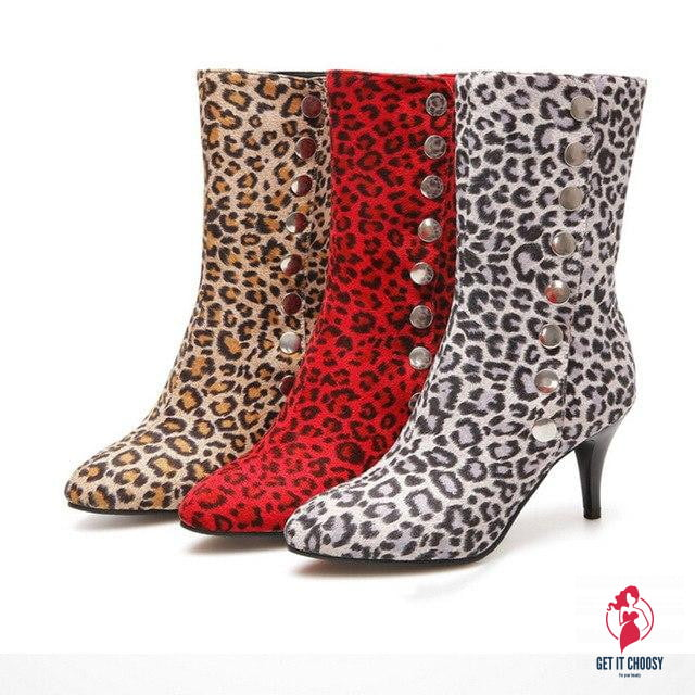Leopard-Printed Shoes Women's Snow Boots by Getitchoosy