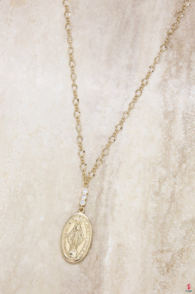 Holy Coin Necklace in Gold by Getitchoosy