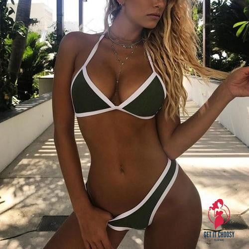 New Arrival Women Bikini Set Solid High Waist by Getitchoosy