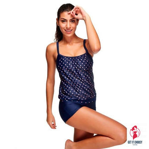 Women Tankini Sets With Boy Shorts by Getitchoosy