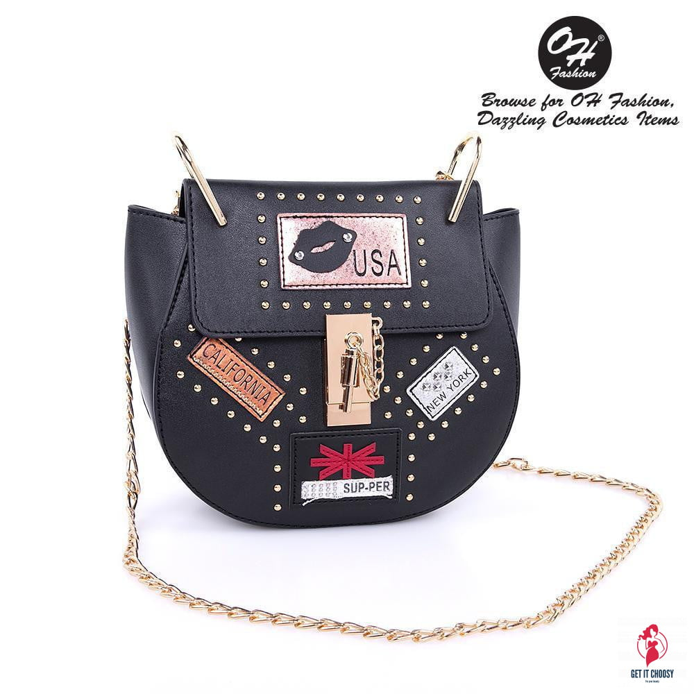 OH Fashion Handbag USA Nights Black by Getitchoosy