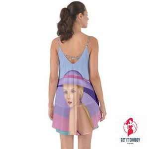 Palm Beach Purple Summer Halter Chiffon Dress by Getitchoosy