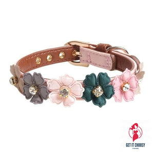 Jewelled Leather Collar by Getitchoosy