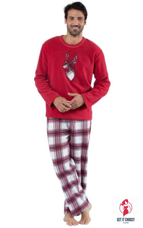 Christmas Couple Pajamas Winter Long by Getitchoosy