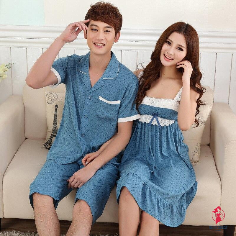 Couple Nightdress Thin Satin by Getitchoosy