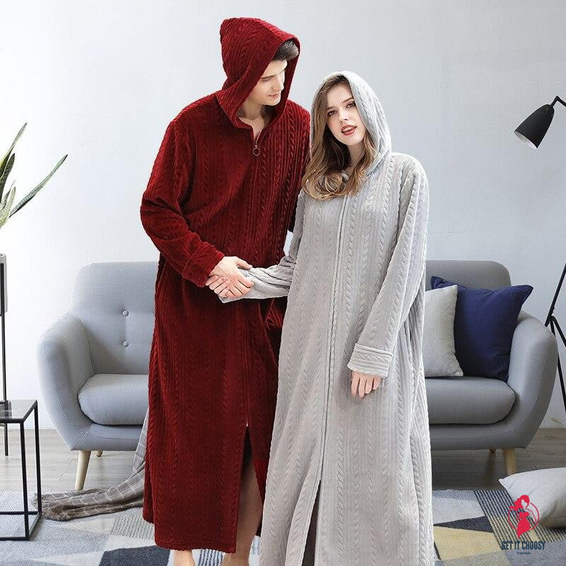 Hooded Couple Pajamas Sets by Getitchoosy