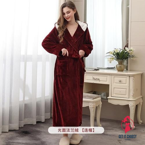 Autumn Winter Velvet Bathrobe Women Cardigan by Getitchoosy