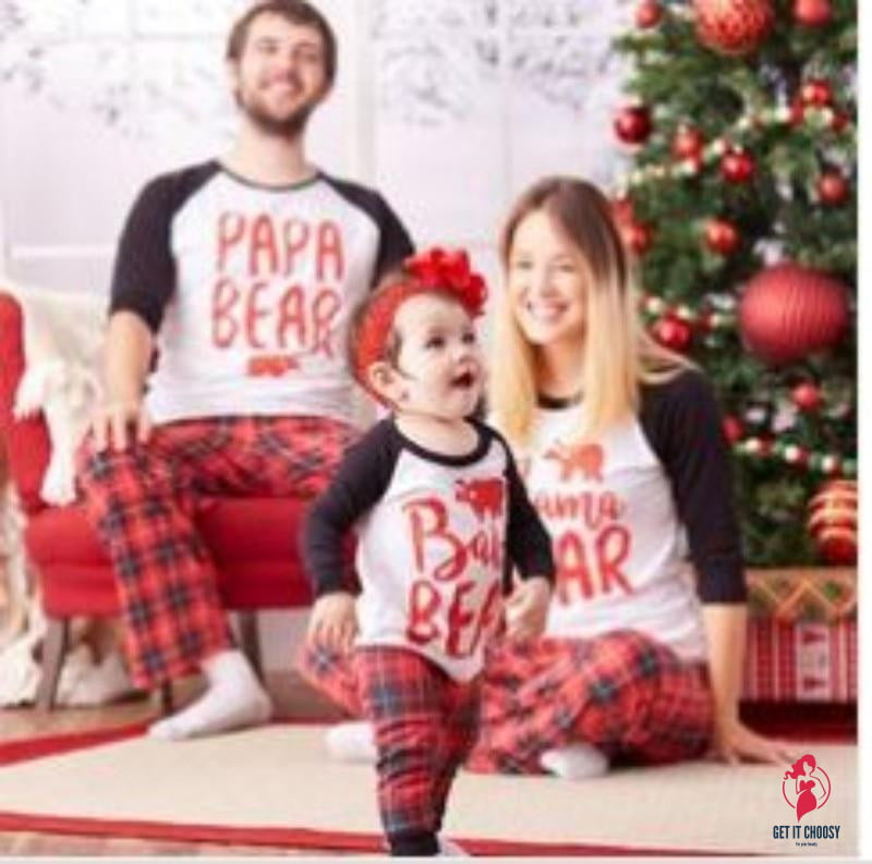 Couple Pajamas Winter Long Sleeve Christmas by Getitchoosy