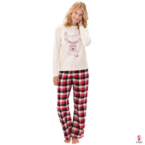 Winter Christmas Couple Pajamas Long Sleeve by Getitchoosy