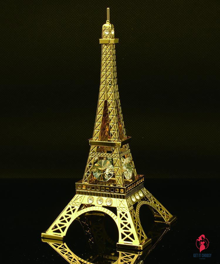 24K gold plated Eiffel Tower with Swarovski by Getitchoosy