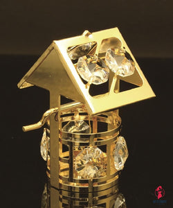 24K gold plated wishing well with Swarovski by Getitchoosy