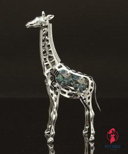Giraffe with handcrafted Swarovski crystal element by Getitchoosy