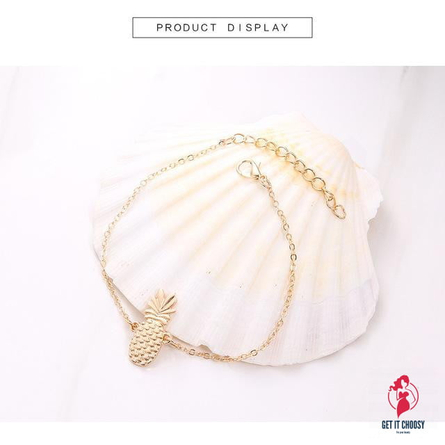 Chain Pineapple Anklet Jewelry by Getitchoosy
