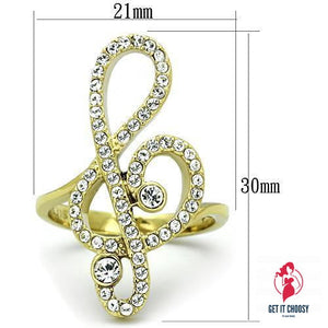 Women Stainless Steel Synthetic Crystal Rings by Getitchoosy