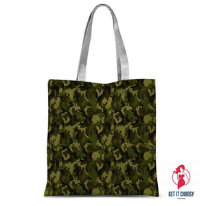 Camofludge 11 Sublimation Tote Bag by Getitchoosy