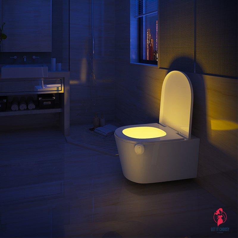 Motion Sensor LED Toilet Night Light by Getitchoosy