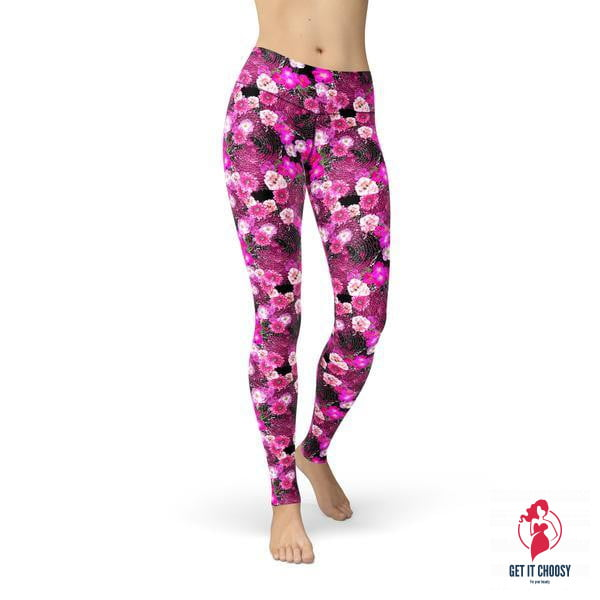 Jean Pink Magenta Flowers by Getitchoosy