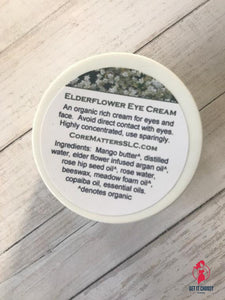 Elderflower eye cream by Getitchoosy