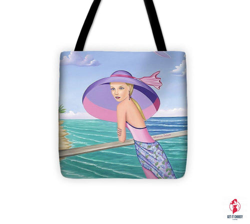Palm Beach Purple - Tote Bag by Getitchoosy