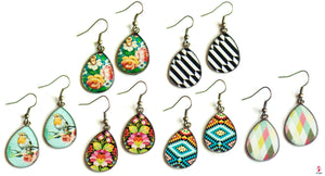 Pattern Drops Earrings by Getitchoosy