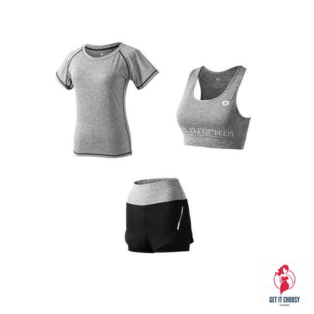 5Pcs Women's Yoga Sets Outdoor Running Yoga Quick by Getitchoosy