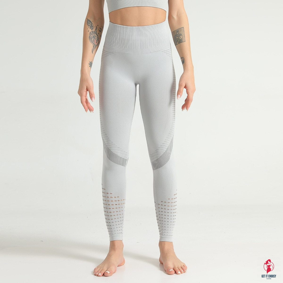 Hollow Out Fitness Gym Leggings Women Seamless Energy Tights Workout