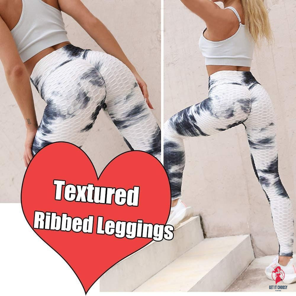 Tie-dye Booty Yoga Pants Women Fitness High Waisted Ruched Butt Lift - Get It Choosy