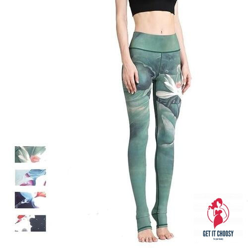 Women Sexy Yoga Pants Printed Dry Fit by Getitchoosy