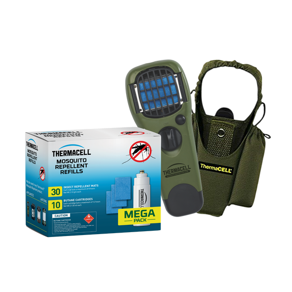 Handheld Repeller & Holster with Mega Refill Pack