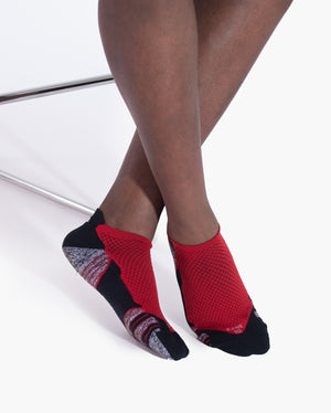 mens ankle sock in red style