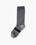 mens crew sock in heather grey laid flat