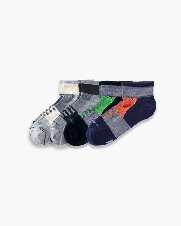 mens quarter sock in a 4 mix3 pack