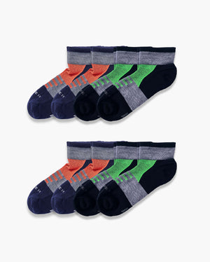 mens quarter sock in a 8 mix2 pack