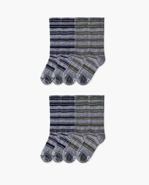 mens crew sock in a 8 mix pack