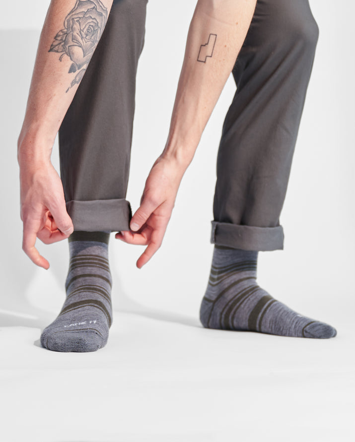 mens crew sock in loden style