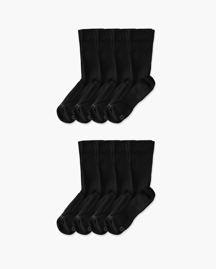 mens crew sock in liam packs 8 black