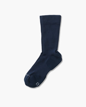 mens crew sock in navy laid flat