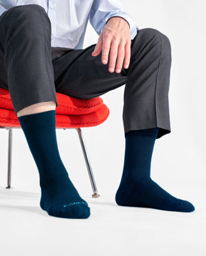 mens crew sock in navy style