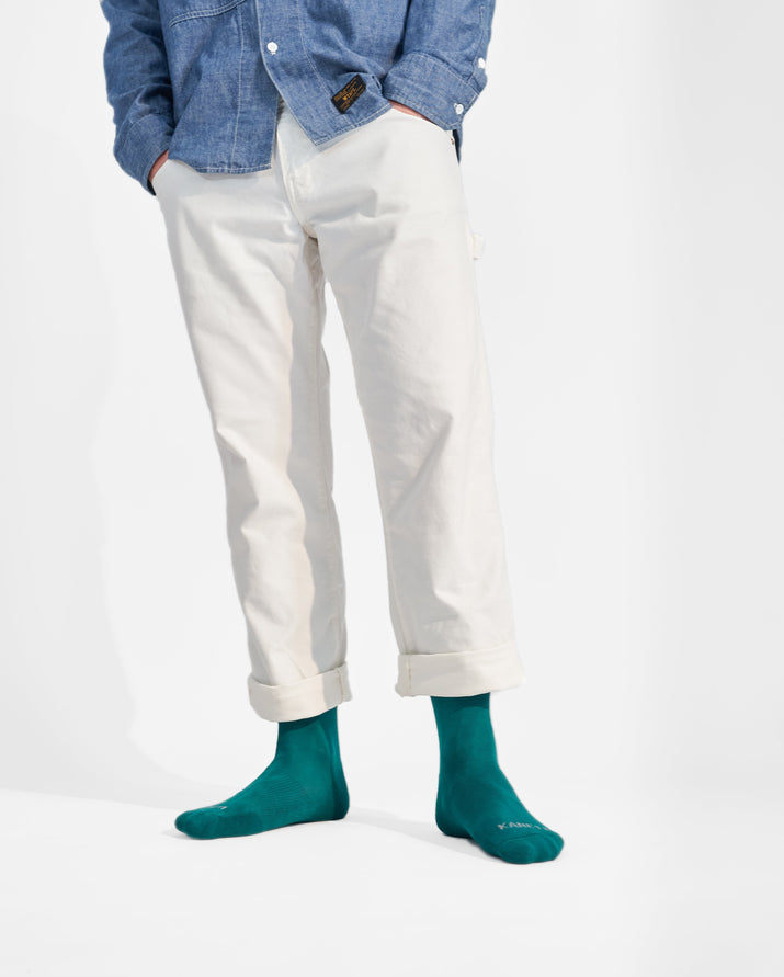 mens crew sock in evergreen style