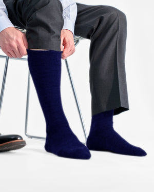 mens knee high sock in navy style