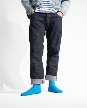 mens crew sock in sky blue style