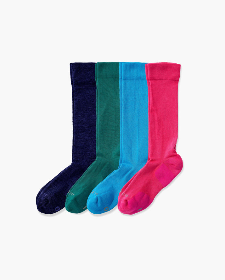 mens knee high sock in a 4 mix2 pack